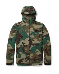 Nike Green Fcreal Bristol Camouflageprint Jacket for men