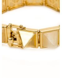Eddie Borgo - Metallic Large Gemstone Pyramid Bracelet - Lyst