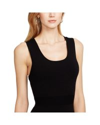 Ralph Lauren | Black Scoop-neck Sleeveless Dress | Lyst