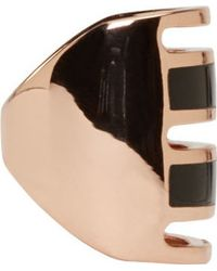 Pamela Love | Black Rose Gold And Onyx Inlay Path Ring | Lyst