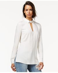 RACHEL Rachel Roy | White Cutout Necklace Top | Lyst