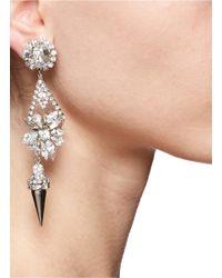 Erickson Beamon | Metallic Spiked Floral Drop Earrings | Lyst
