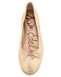 Sam Edelman Felicia Metallic Ballet Flats Dark Silver
