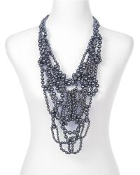Sam Edelman - Metallic Dramatic Statement Necklace - Lyst