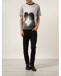 Band of Outsiders Black Graphic T-Shirt for men