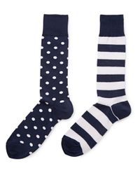 Polo Ralph Lauren - Blue Two Pack Of Cotton-Blend Socks for Men - Lyst