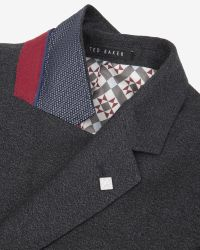Ted Baker | Gray Debonair Wool Jacket for Men | Lyst