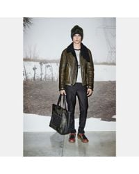 COACH - Green Shearling B3 Bomber Jacket for Men - Lyst