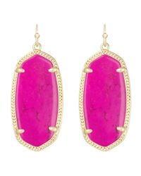 Kendra Scott   Purple Elle Earrings   Lyst