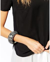 Kenneth Jay Lane - Black Bangle - Lyst