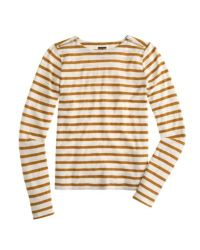J.Crew - Brown Painter T-shirt With Zips - Lyst