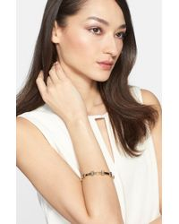 St. John | Metallic Degrade Baguette Crystal Station Bangle | Lyst