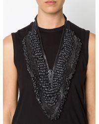 Vera Wang - Black Sequin Zipper Necklace - Lyst