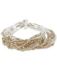 Kenneth Cole | Metallic Multi-row Mixed Bead Stretch Bracelet Set | Lyst