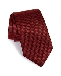 Armani | Red Silk Tie for Men | Lyst