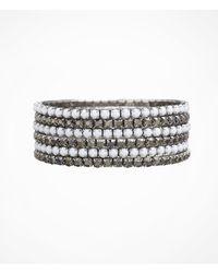 Express | Metallic Six Row Rhinestone Stretch Bracelet Set | Lyst