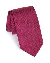 David Donahue | Purple Geometric Silk Tie for Men | Lyst