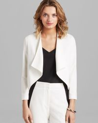 Cut25 by Yigal Azrouël White Jacket Color Block Crepe