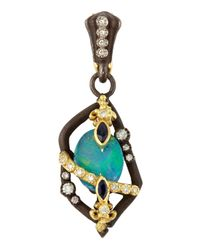 Armenta | Multicolor Small Fleur De Lis Boulder Opal Enhancer | Lyst