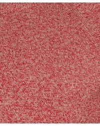 Barbour Red Melange Crew Neck Cotton Jumper for men