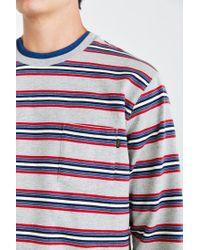 Obey - Gray Bertram Stripe Sweatshirt for Men - Lyst