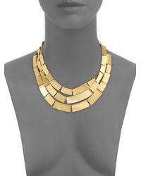 Kelly Wearstler Metallic Medina Three-row Bib Necklace