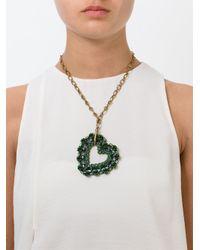 Lanvin | Metallic Heart Pendant Necklace | Lyst