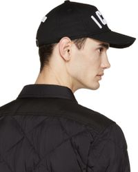 DSquared² - Black Icon Cap for Men - Lyst