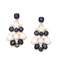 kate spade new york - White Stone Chandelier Earrings - Lyst