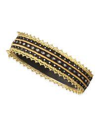Armenta | Metallic Midnight Sapphire & Diamond Huggie Bracelet | Lyst