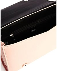 ASOS - Pink Clutch Bag with Radiator Quilting - Lyst