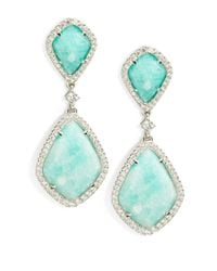 Nadri | Blue Amazonite And Sterling Silver Teardrop Earrings | Lyst