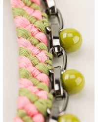 Joomi Lim - Green Beaded Woven Chain Necklace - Lyst