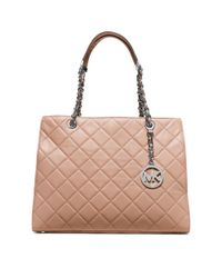 Michael Kors | Brown Susannah Large Quilted-leather Tote | Lyst