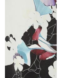 3.1 Phillip Lim Multicolor Floral Print Stretch Silk Tank