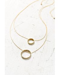 Urban Outfitters - Metallic Swinging Circles Pendant Necklace - Lyst