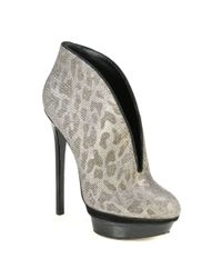 B Brian Atwood | Metallic Fortosa Glitter Patent Leather Ankle Boots | Lyst
