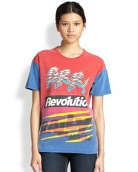 Marc By Marc Jacobs - Red Ryder Motocross Printed Cotton Tee - Lyst