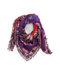 Emilio Pucci - Purple 'Khiva' Wool & Silk Scarf - Lyst