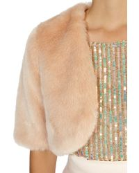 Coast Pink Bleeker Faux Fur Cover Up