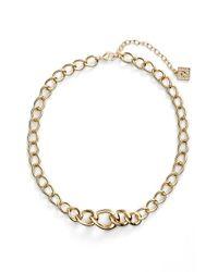 Anne Klein Metallic Chain Frontal Necklace
