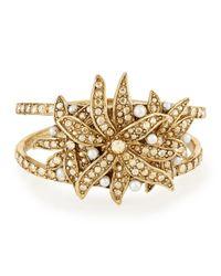 Oscar de la Renta - Metallic Swarovski® Pearl Flower Bracelet - Lyst