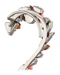 Vickisarge - Metallic Birds Of Paradise Hematite-Plated Crystal Earrings - Lyst