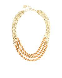 BCBGMAXAZRIA Orange Twisted Seed Bead Necklace