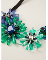 P.A.R.O.S.H. - Green Flower Necklace - Lyst