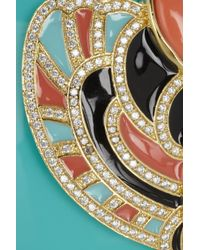 Kenneth Jay Lane - Blue 18karat Goldplated Resin and Cubic Zirconia Cuff - Lyst