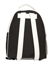 Diesel Black Gold | White Grained Leather Backpack for Men | Lyst