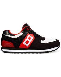 Polo Ralph Lauren Black Slaton Number Sneakers for men
