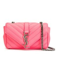 Saint Laurent | Pink 'monogram' Crossbody Bag | Lyst