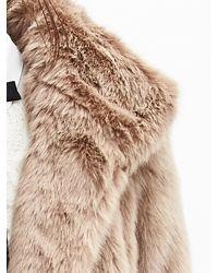 Banana Republic Natural Br Monogram Faux-fur Coat